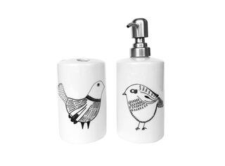 Set Baño Cerámica Pájaros Negros Paper Home,,hi-res