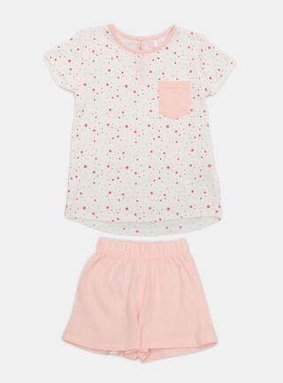 Pijama Tribu Print Niña,Rosado Pastel,hi-res
