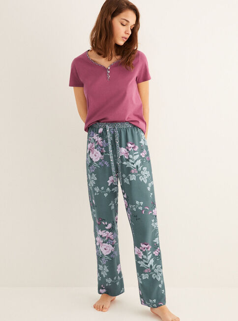 Pantal%C3%B3n%20Pijama%20Mix%26Match%201%20Green%20and%20Blue%20Women'Secret%2CVerde%20Olivo%2Chi-res