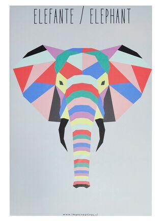 Canvas Geo Animal Elefante 20 x 30 cm Iman Decor,,hi-res