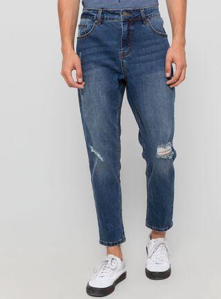 Jeans Rasgado Azul Foster,Azul Eléctrico,hi-res