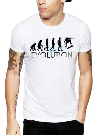 Polera Evolution Skater Get Out,Blanco,hi-res