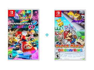 JUEGO NINTENDO SWITCH PAPER MARIO: THE ORIGAMI KING + JUEGO NINTENDO SWITCH MARIO KART 8 DELUXE