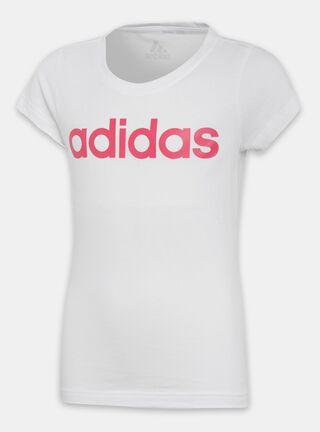 Polera Adidas YG LINEAR TEE Niña,Blanco,hi-res