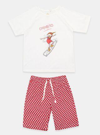 Pijama Mi Duende Mágico Colorito Niño,Granate,hi-res