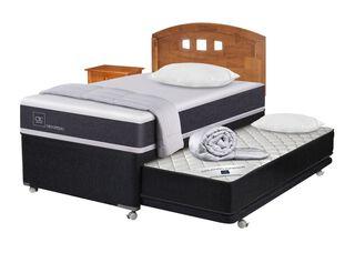 Diván Cama New Ortopedic Black + Set Muebles Gales + Set Textil Cic,,hi-res