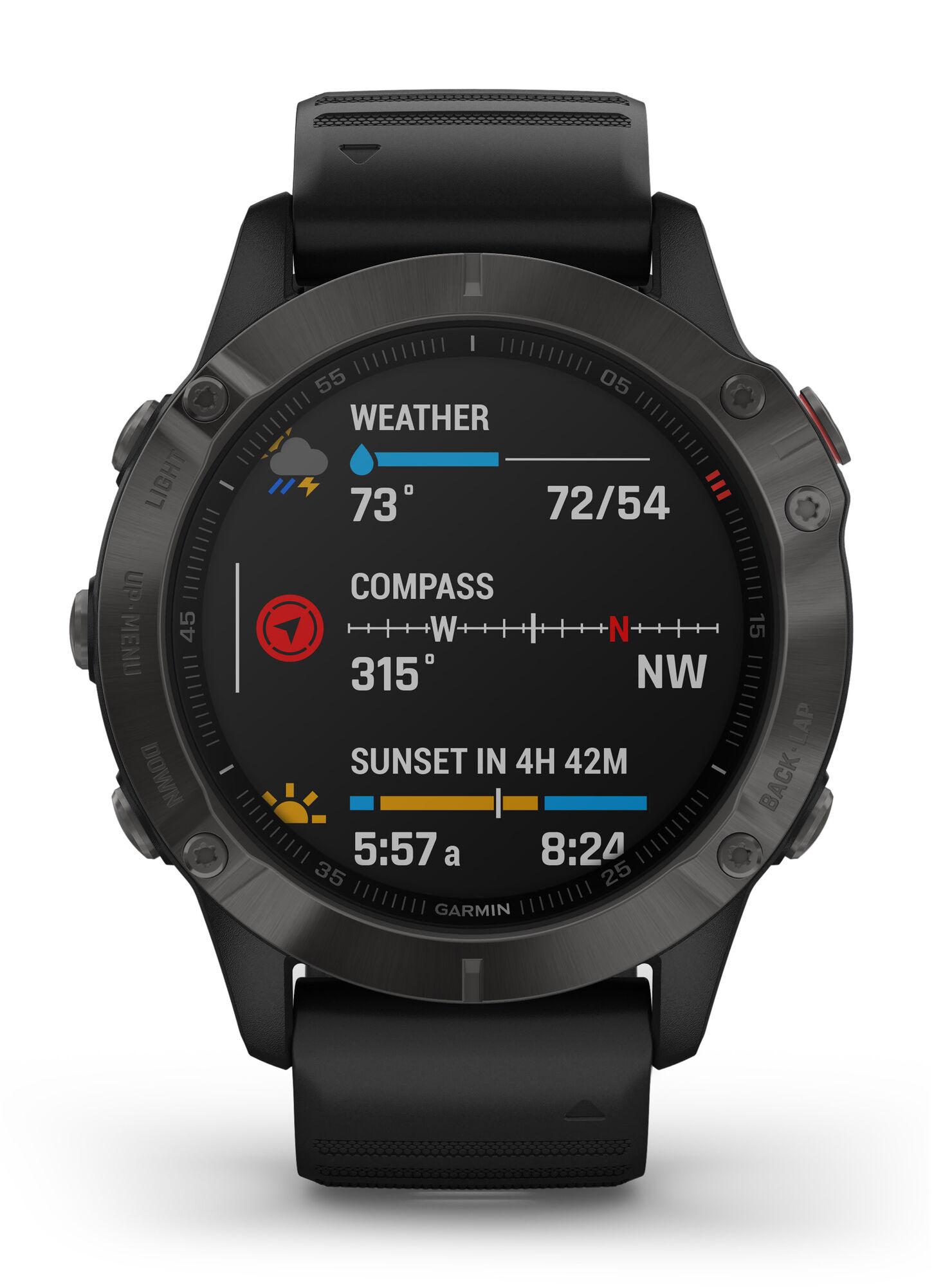 Smartwatch Garmin Fenix 6 Sapphire Negro
