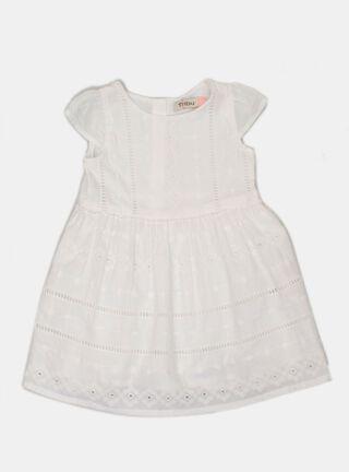 Vestido Tribu Aplicación Niña,Blanco,hi-res