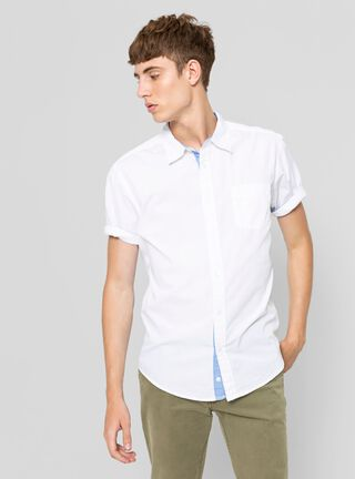 Camisa Manga Corta Slim Rainforest,Blanco,hi-res