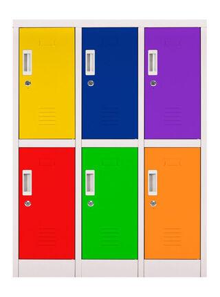 Locker Office Mini Llaves Multicolor 6 Puertas 83x50x114 cm Maletek,,hi-res