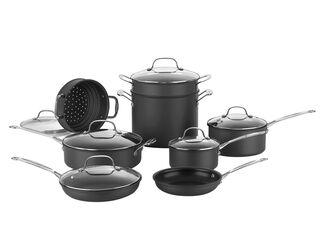 Pack Batería Aluminio 14 Piezas Chef Classic Cuisinart + Set Utensilios de Regalo,,hi-res