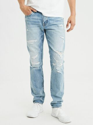 Jeans Slim Straight American Eagle,Celeste,hi-res