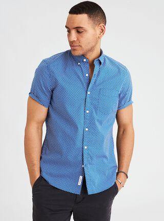 Camisa Buttom American Eagle,Azul Eléctrico,hi-res