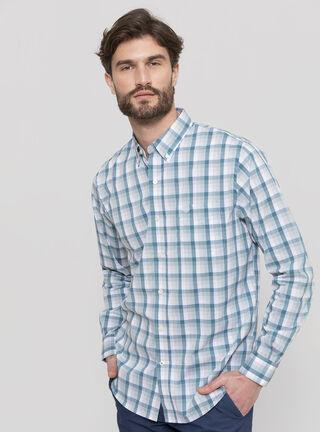 Camisa Cuadros Dockers,Azul,hi-res