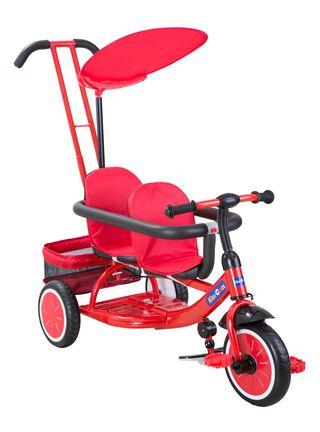 Triciclo Doble Rojo Kidscool,,hi-res