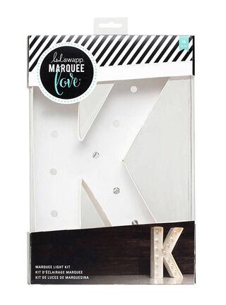 Letra con Luces Marquee K American Crafts 20 x 31 x 5 cm,,hi-res