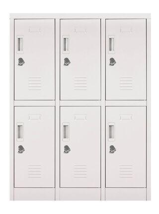 Locker Office Mini Candado Gris 6 Puertas 83x50x114 cm Maletek,,hi-res