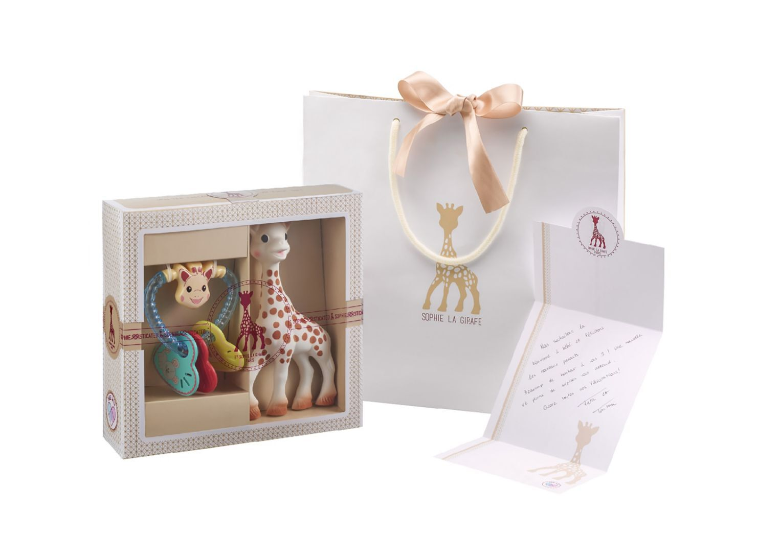 La Girafe Set JirafaCascabel Tarjeta En Regalo Sophie Juguetes H9IEYDW2