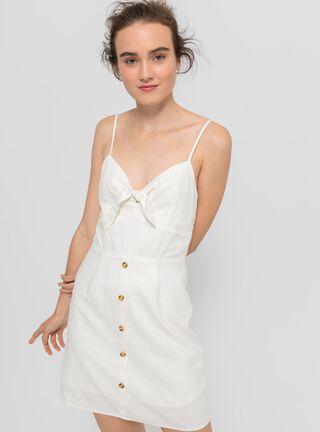 Vestido Botones Blanco Opposite,Marfil,hi-res