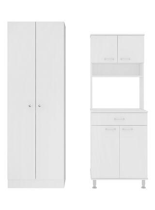 Muebles de Cocina: Microondas + Optimizador Diseño 8 TuHome,Blanco,hi-res
