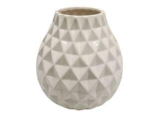 Jarrón de Cerámica Alaniz Home Textura 1 Beige 19.5 x 19.5 x 22 cm,,hi-res