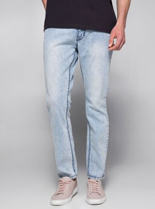 Jeans Slim Fit Básico Opposite,Celeste,hi-res