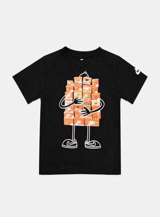 Polera Nike Print Niño,Negro,hi-res