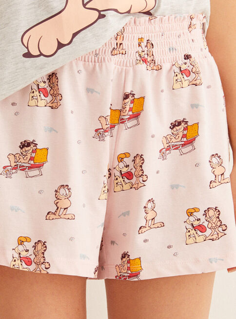 Pijama%20Garfield%20Love%20100%25%20Algod%C3%B3n%20Sin%20Mangas%20Women'Secret%2CGris%20Perla%2Chi-res