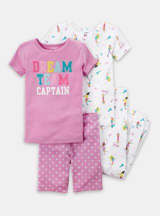 Pijama 4 Piezas Niña 5 A 8 Años Carter's,Diseño 1,hi-res