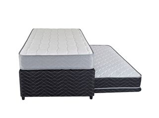 Diván Cama Therapedic Colors Night Negro 1.5 Plazas Flex,,hi-res