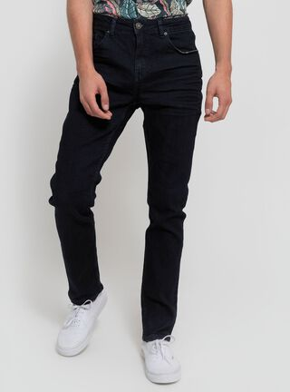 Jeans Liso Negro Foster,Azul Oscuro,hi-res