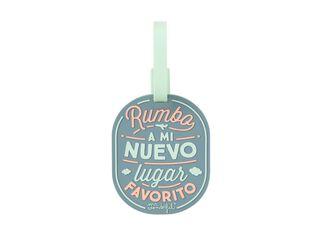 Etiqueta Para Equipaje Rumbo A Mi Nuevo Lugar Favorito Mr Wonderful,,hi-res