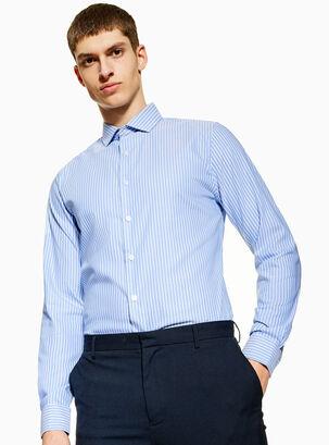 22e93e07487ce Camisa Stripe Slim Topman. $39.990. Único Color