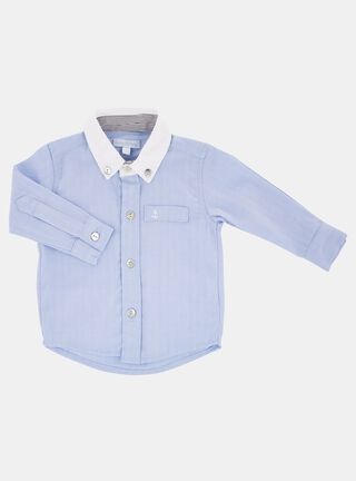 Camisa Lucky Baby Botones Niño,Celeste,hi-res