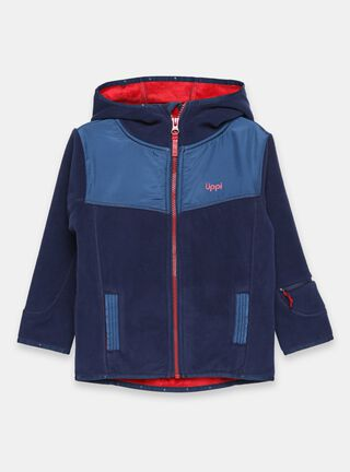 Poleron Lippi Grillo Therm-Pro Hoody Jacket Niño,Azul Marino,hi-res