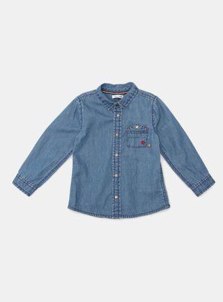 Camisa Opaline Denim Niño,Azul Eléctrico,hi-res