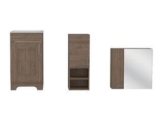 Muebles de Baño: Lavamanos + Muro + Botiquín TuHome,Camel,hi-res