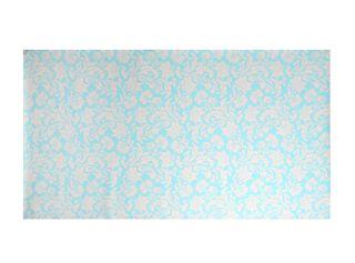 Papel Mural Tamaño A Celeste Flor Blanca Vm Print,,hi-res