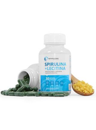 Spirulina 150 Capsulas Polvo Puro + Lecitina,,hi-res