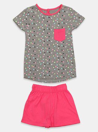 Pijama Tribu Print Niña,Coral,hi-res