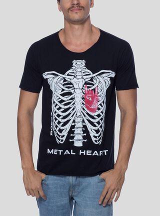 Polera Metal Heart Bossa Brasil,Negro,hi-res