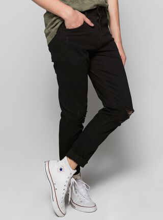 Jeans Roturas Slim Fit Foster,Negro,hi-res