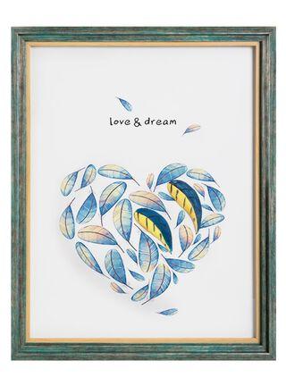 Cuadro Enmarcado Pajaritos Love & Dream 43x53cm Attimo,,hi-res