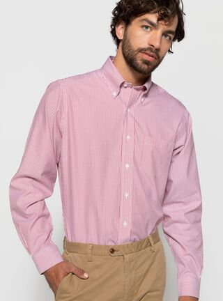 Camisa Cuello Milano Slim Fit Brooks Brothers,Rojo,hi-res