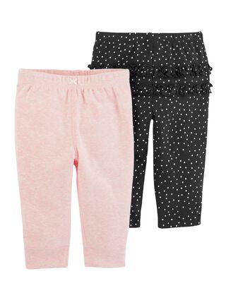 Pantalón Niña 0 A 24 Meses Carter's,Coral,hi-res