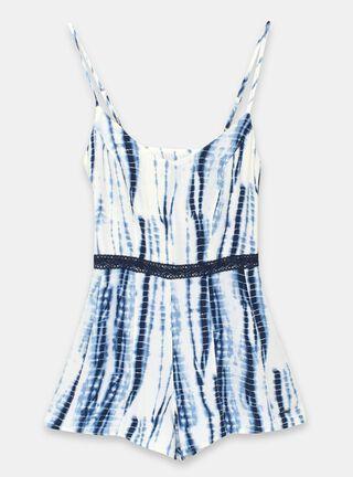 Vestido Foster Macramé Niña,Azul Eléctrico,hi-res