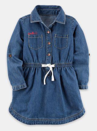 Vestido Niña 4 A 8 Años Carter's,Azul,hi-res