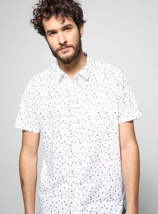 Camisa Manga Corta Casual Foster,Blanco,hi-res