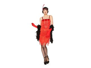 Disfraz Charleston Rojo Mujer Carnaval,Único Color,hi-res