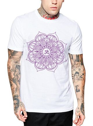 Polera Om Mandala Get Out,Blanco,hi-res